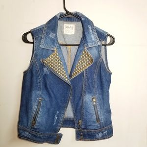 Dolled up Denim Moto Vest
